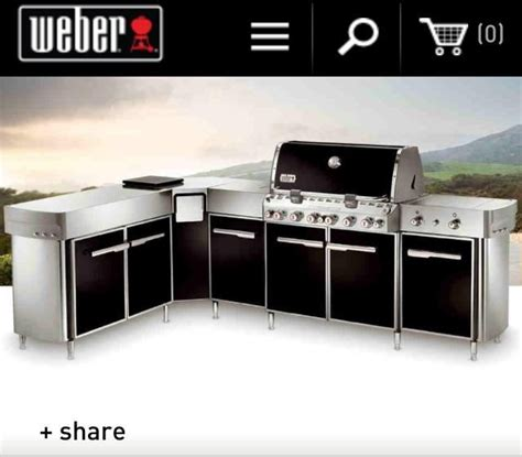 weber outdoor kitchen entertain me