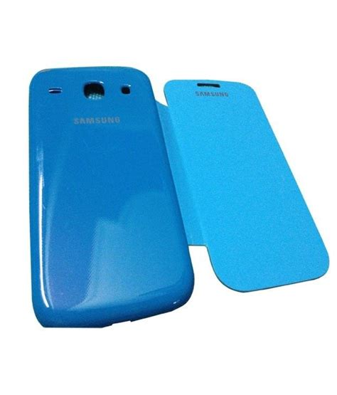 Casing Kesing Housing Samsung 1 I8262 White Blue casem samsung galaxy i8260 i8262 blue flip cover flip cover buy casem samsung galaxy