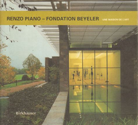 libreria renzo piano renzo piano fondation beyeler s a architettura