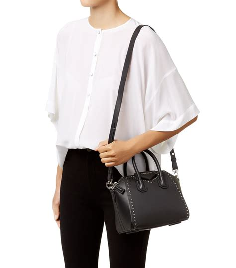Givency Antigona Mini givenchy mini smooth stud antigona tote in black lyst