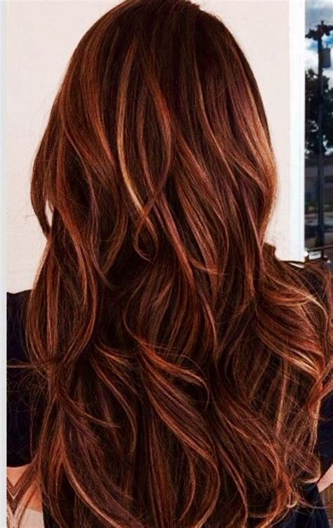 hairstyles auburn highlights and caramel highlights in dark brown hair red and caramel