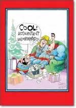 accountant underwear superheroes christmas greeting card