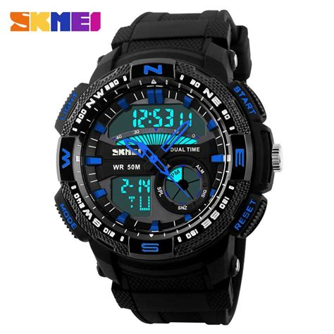 Skmei Sport Analog Led Water Resistant Ad1148 Jam Tangan jam tangan pria skmei sport led water resistant 50m ad1109 elevenia