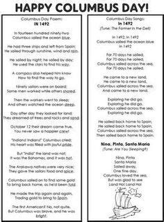 christopher columbus biography for 5th grade christopher columbus pocket chart poem and writing