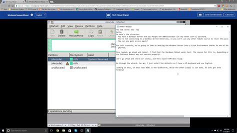 reset windows vista password youtube reset a windows password on 1 1 cloud server youtube