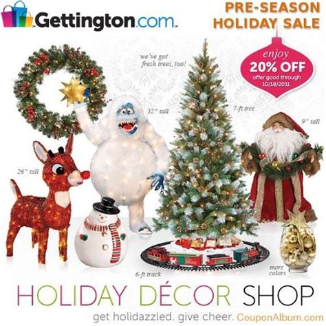 gettington pre season holiday sale 20 off holiday decor