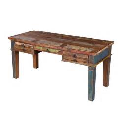 distressed wood desk 66 quot w desk table rustic reclaimed wood crafted