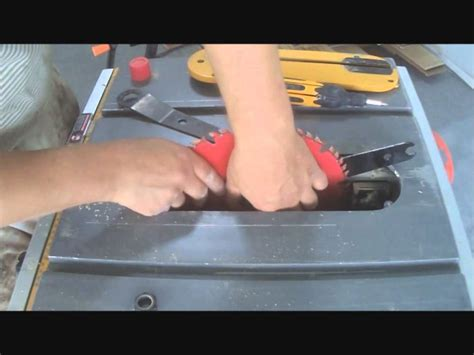 dewalt table saw dado blade how to change blade on dewalt compact table saw step by