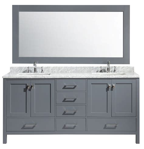 home design outlet center bathroom vanities london 72 quot double sink vanity set in gray finish