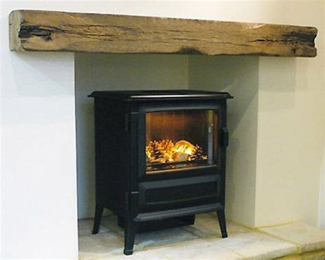 Oak Beam Above Fireplace by Log Burner Fireplace Railway Sleeper Search