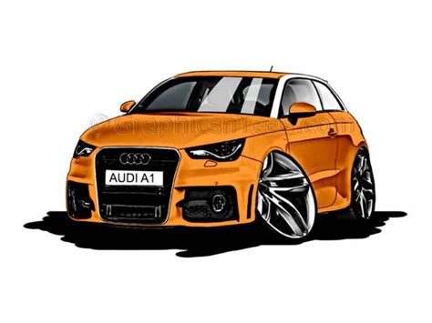 cartoon audi audi a1 cartoon caricature