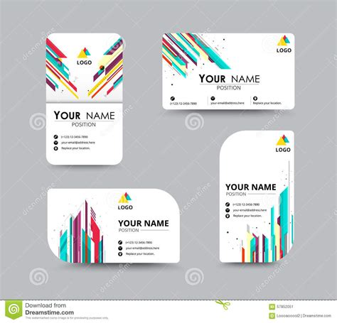 business name card design template abstract business card template with sle name position
