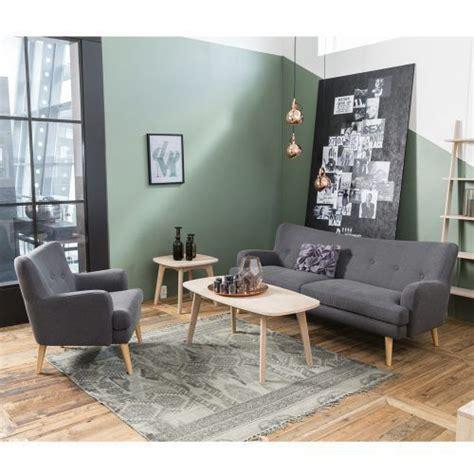 Einrichtung Arbeitszimmer 3461 design sofa 3 sitzer saida stoffbezug holzbeine natur
