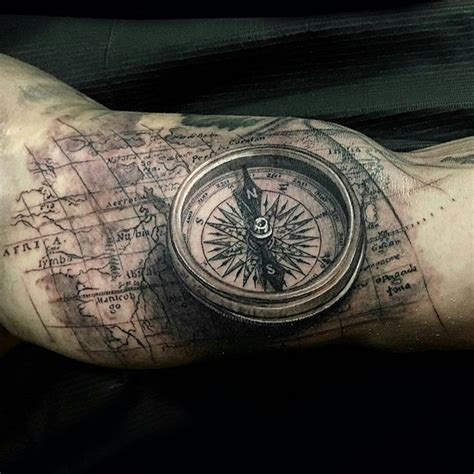 tattoo compass world map compass map tattoo by jptattoos at renaissance studios