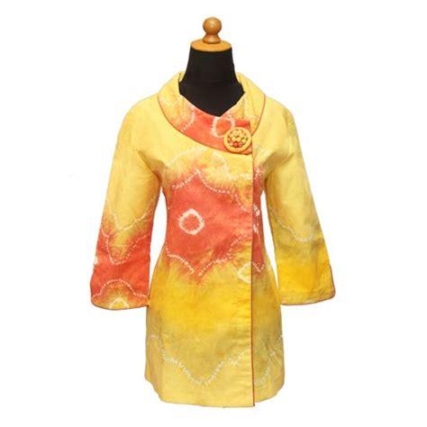 blouse jumputan palembang kuning bahan jumputan