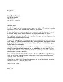 Commercial Real Estate Cover Letter by Real Estate Cover Letter