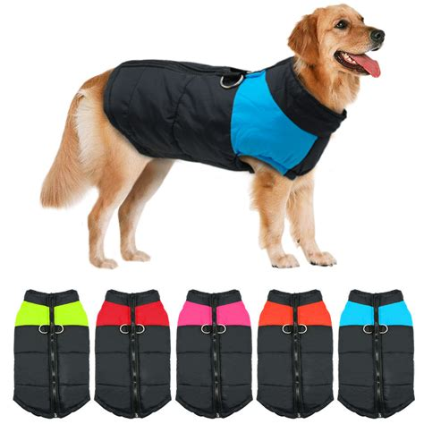 big dogs clothing winter warm big clothes padded waterproof coats pet clothing for large dogs ebay