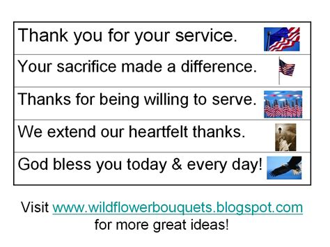 Thank You Letter Vocabulary Wildflower Bouquets Enjoy Simple Pleasures Free Printable Words Of Thanks For Veterans