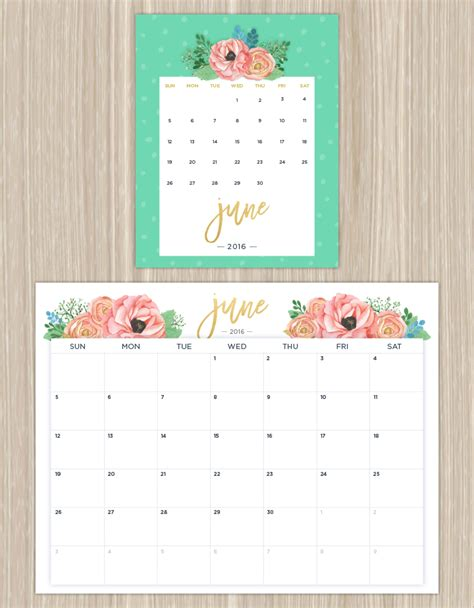 Coupon Calendario Printable Calendars For A More Floral 2016 Ftd Flowers