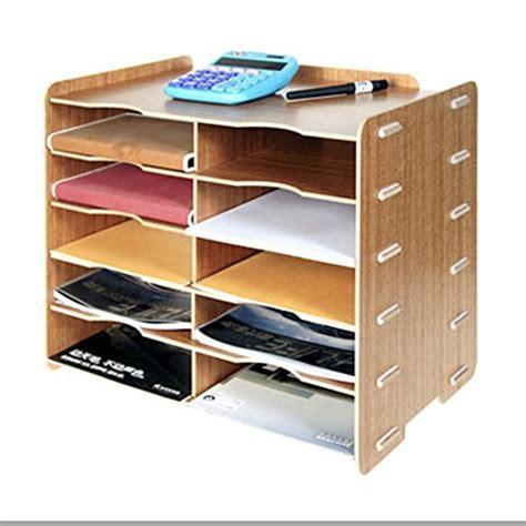 Office Shelf Organizer by Natamo Diy Wooden Desktop Organizer 10 Compartment File