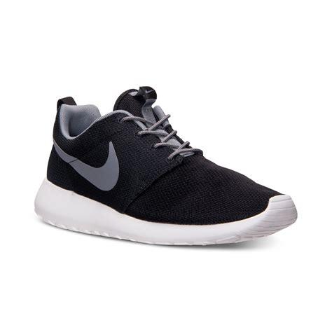 nike sneakers mens nike mens roshe run casual sneakers from finish line in