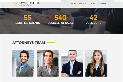 themeforest lawyer law justice attorney lawyer html5 template by themebear