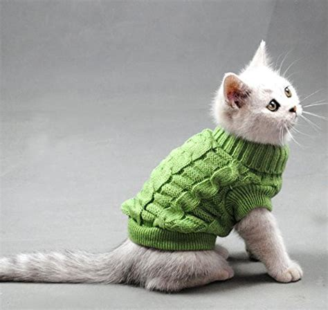 Turtleneck Cat Sweater line s turtleneck pet cats sweater aran pullover knitted