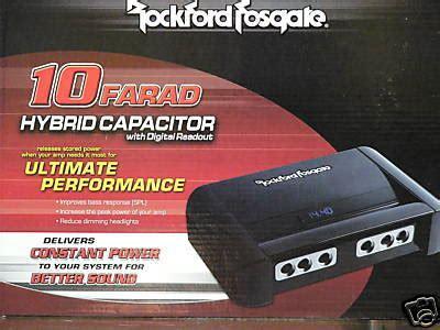 rockford fosgate rfc10hb capacitor rockford fosgate rfc10hb 10 farad digital capacitor fr