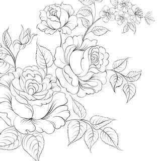tattoo color cartoon red rose in cartoon style for tattoo design vector