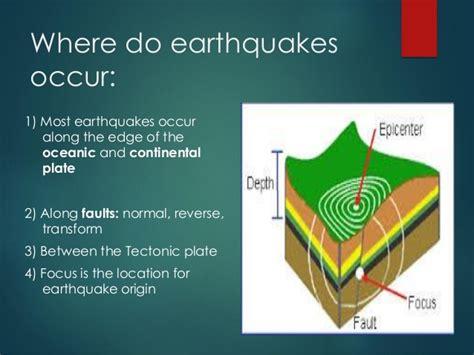 earthquake occur earthquake