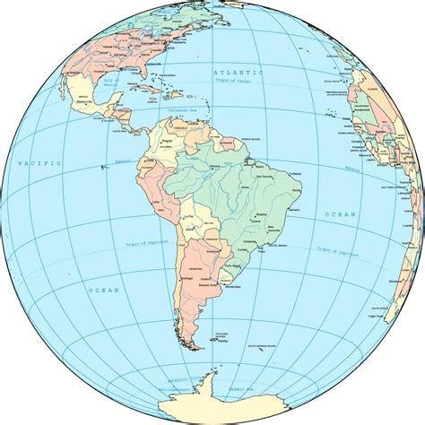 usa maps view political south america globe mapsof net