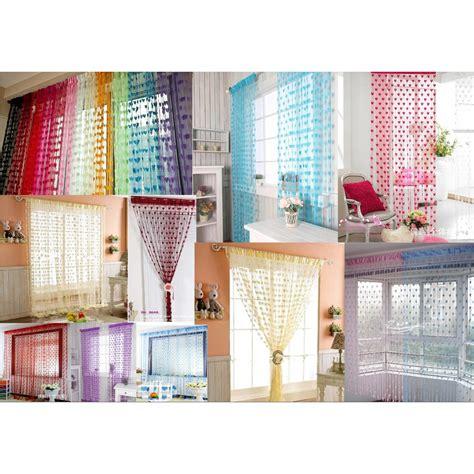Tirai Benang Pintu Jendela Dekorasi tirai benang bai chuan baichuan untuk jendela gorden pintu shopee indonesia