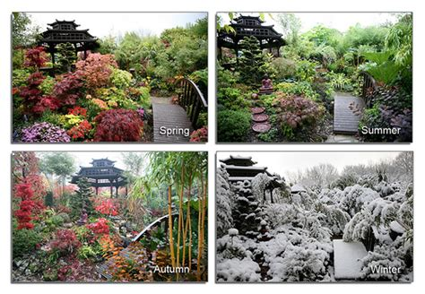 four seasons garden pagoda view spring summer autumn winter flickr photo sharing