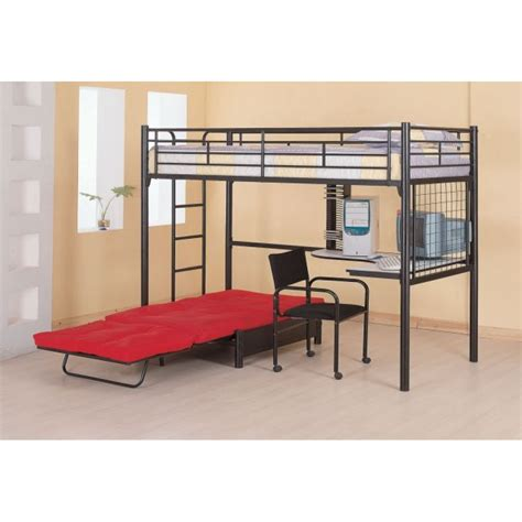 Bunk Bed With Futon And Desk Bunks Loft Bunk Bed With Futon Chair Desk
