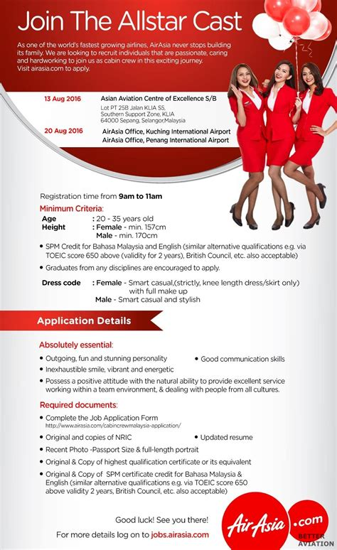 airasia vacancy airasia cabin crew walk in interview malaysia august