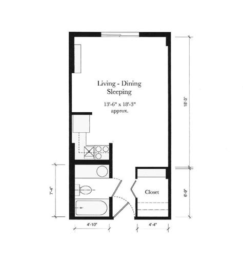 1 Room Studio Apartment Floor Plan - best 25 studio apartment floor plans ideas on