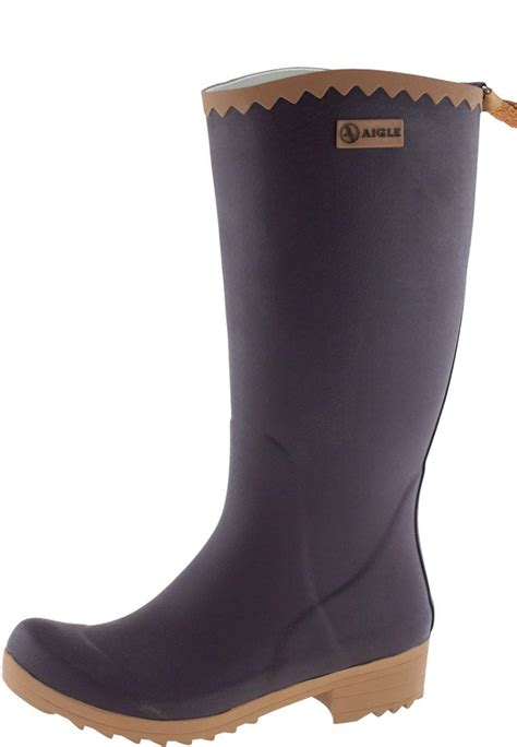 womans rubber boots victorine aubergine n women s rubber boots by aigle