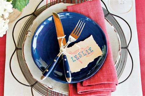 make your own place cards make your own place cards a patriotic table setting