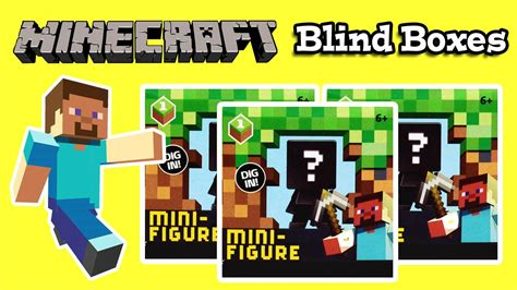 Blind Minecraft Minecraft Blind Bags Boxes Opening Youtube