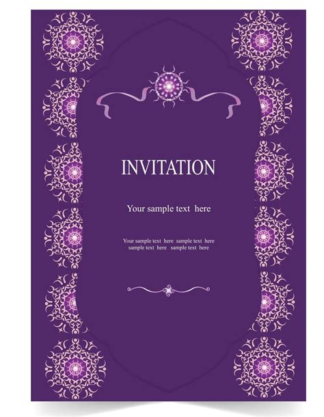 purple reception card templates invitation templates that are for your farewell