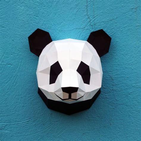 Papercraft Panda - papercraft panda printable digital diy template