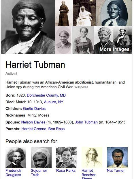 harriet tubman cereal box biography google s harriet tubman doodle shows internal links in