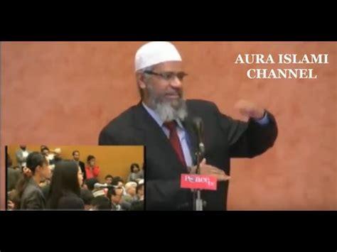 Dr Zakir Naik Hak Wanita Dalam Islam wanita jepang bertanya tujuan hidup dan masuk islam dr