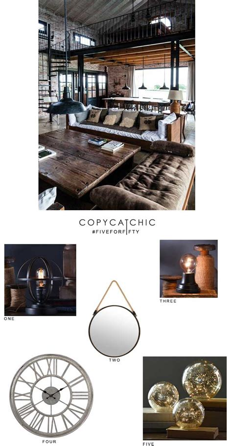 industrial chic home decor five for fifty vintage industrial with kirklands