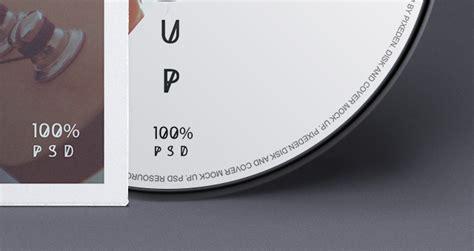 Psd CD Cover Disk Mock Up   Psd Mock Up Templates   Pixeden