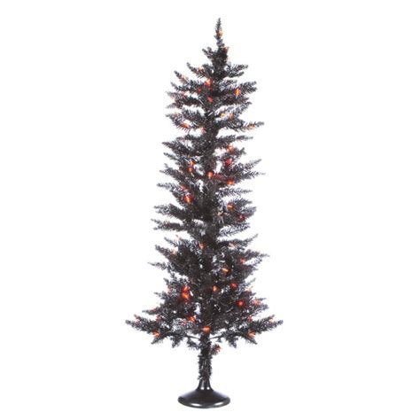 lighted black twist christmas tree 4 5ft