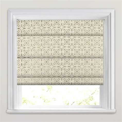 mosaic pattern roller blinds shimmering silver velvet cream mosaic patterned roman blinds