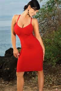 Reviews of different dresses denise milani red dress video