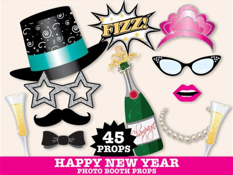 photo booth props printable pdf new year new years eve photo booth props new years eve party new
