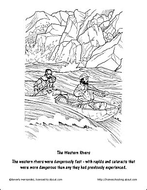 coloring page of mississippi river free lewis and clark worksheets and coloring pages